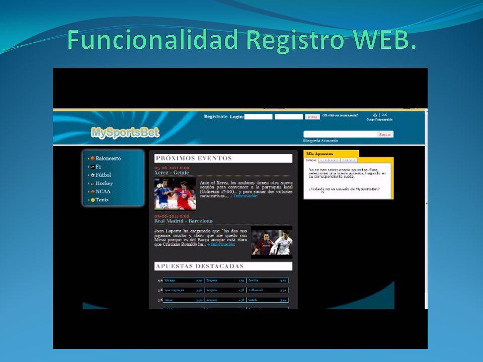 Funcionalidad Registro WEB.