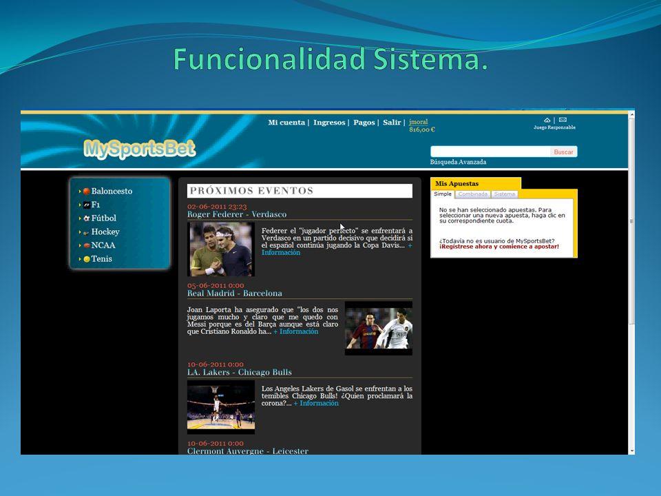 Funcionalidad Sistema.
