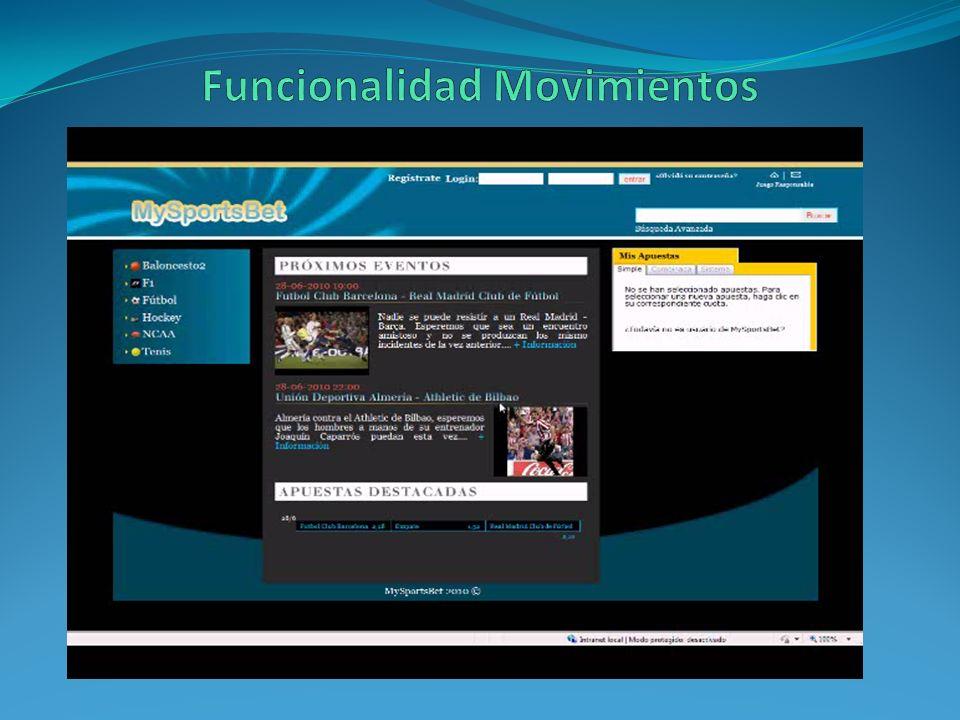 Funcionalidad Movimientos