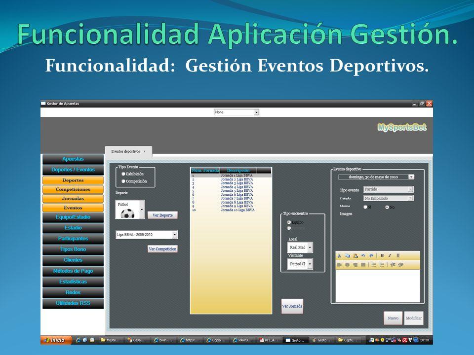 Funcionalidad Aplicación Gestión.