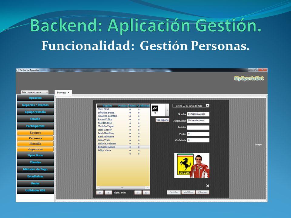 Backend: Aplicación Gestión.