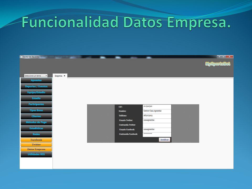 Funcionalidad Datos Empresa.