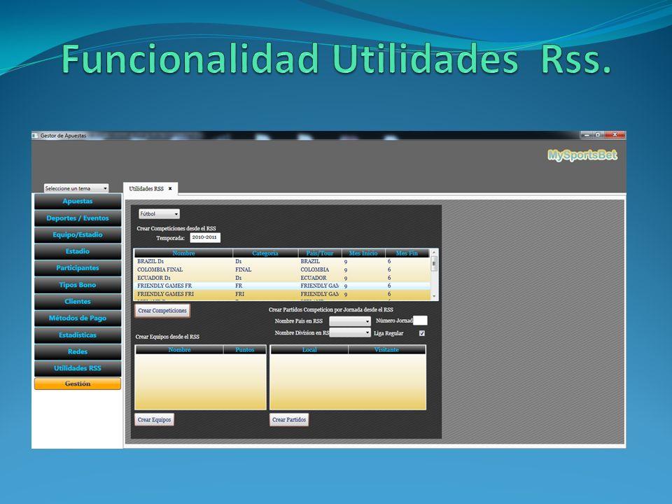 Funcionalidad Utilidades Rss.