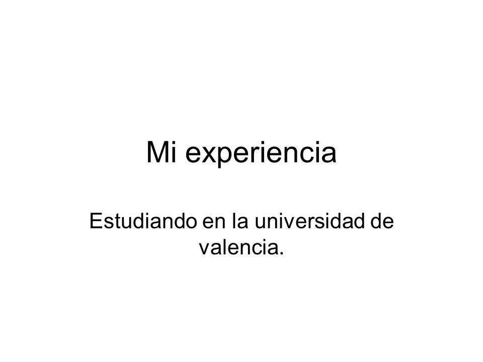 Estudiando en la universidad de valencia.