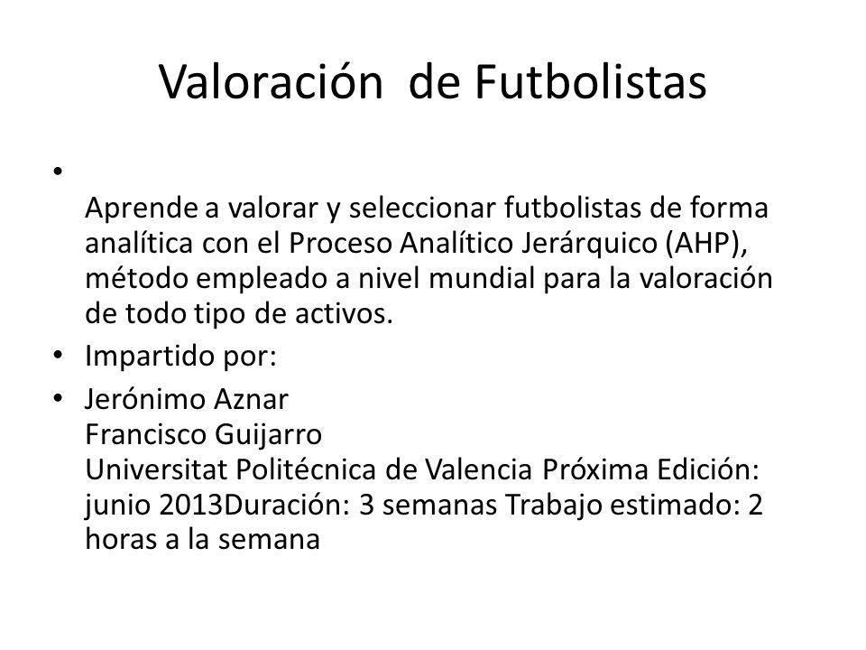 Valoración de Futbolistas