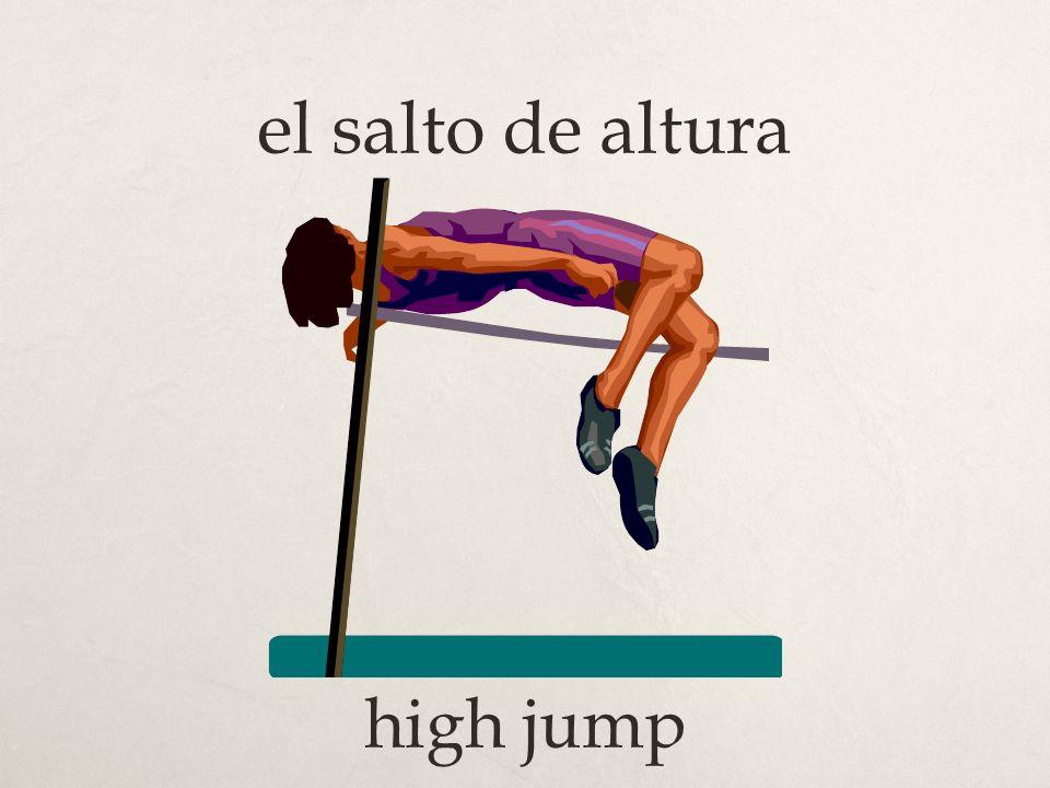 el salto de altura high jump