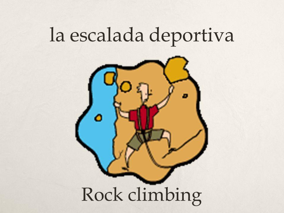 la escalada deportiva Rock climbing