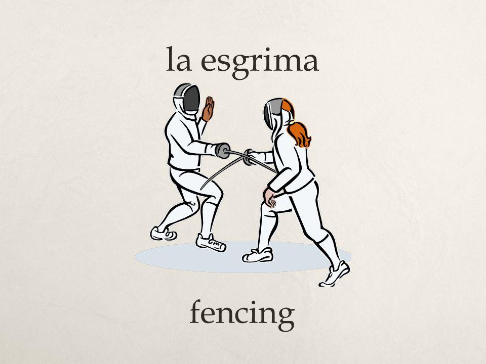 la esgrima fencing