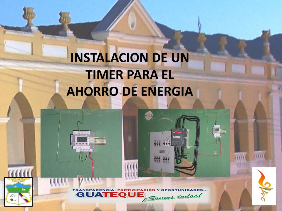 INSTALACION DE UN TIMER PARA EL AHORRO DE ENERGIA