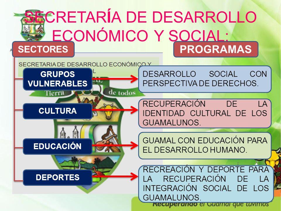 SECRETARÍA DE DESARROLLO ECONÓMICO Y SOCIAL: