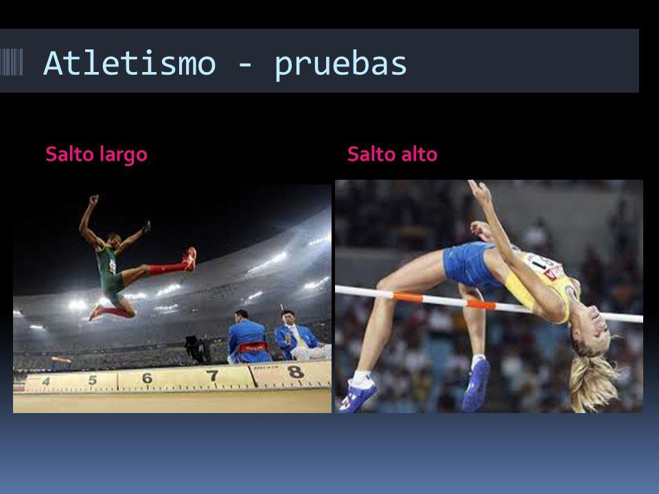 Atletismo - pruebas Salto largo Salto alto