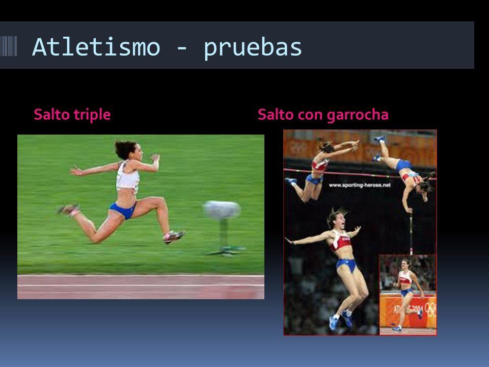 Atletismo - pruebas Salto triple Salto con garrocha