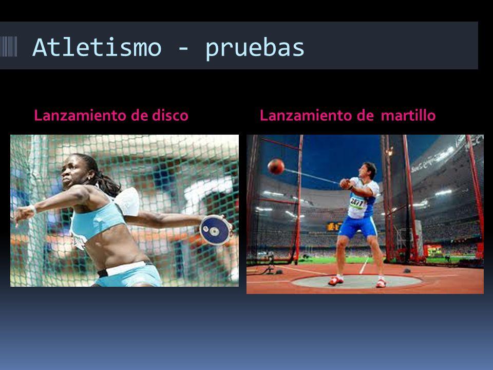 Atletismo - pruebas Lanzamiento de disco Lanzamiento de martillo