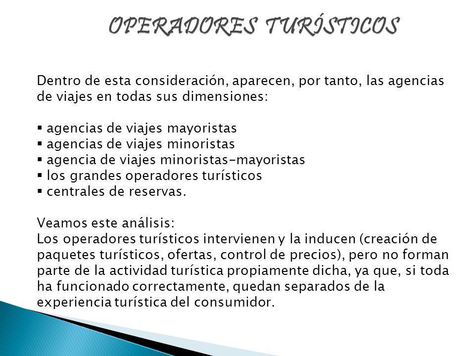 OPERADORES TURÍSTICOS