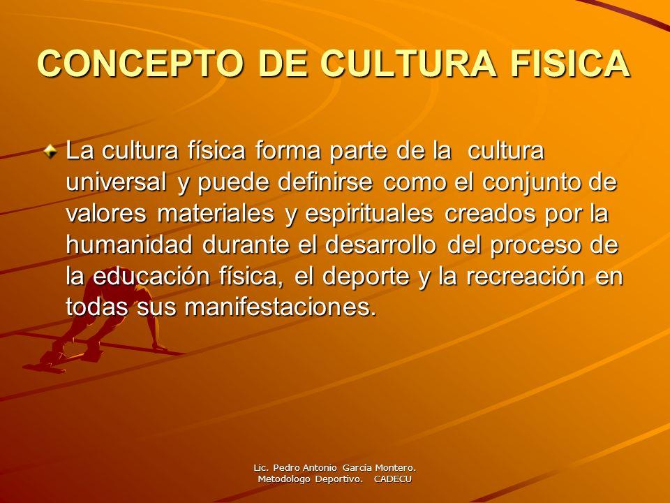 CONCEPTO DE CULTURA FISICA