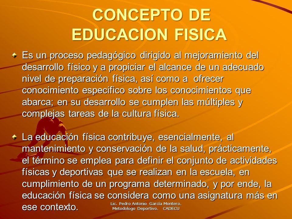 CONCEPTO DE EDUCACION FISICA