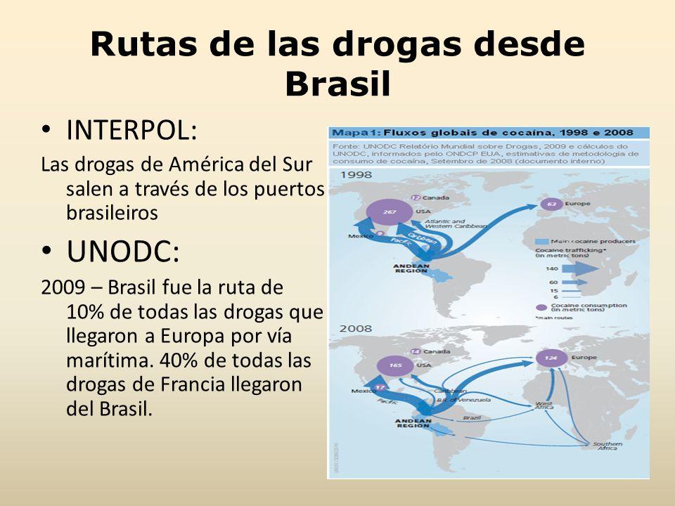 Rutas de las drogas desde Brasil