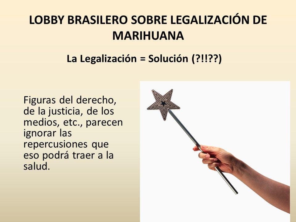 LOBBY BRASILERO SOBRE LEGALIZACIÓN DE MARIHUANA
