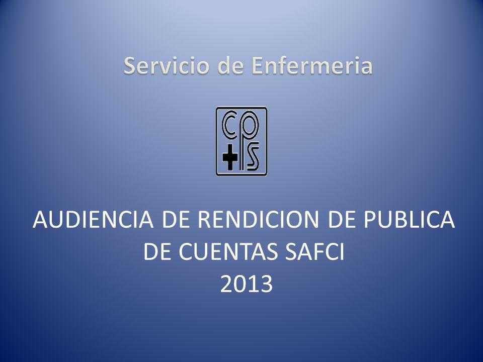 AUDIENCIA DE RENDICION DE PUBLICA DE CUENTAS SAFCI 2013