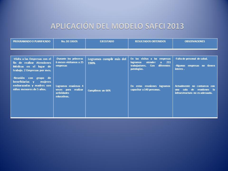 ATENCION EN SALUD INICIAL 2013