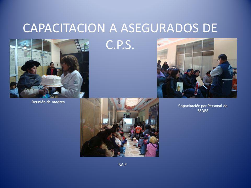 CAPACITACION A ASEGURADOS DE C.P.S.