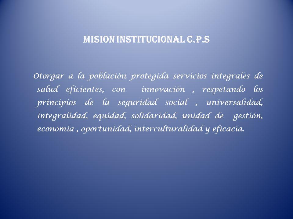 MISION INSTITUCIONAL C.P.S