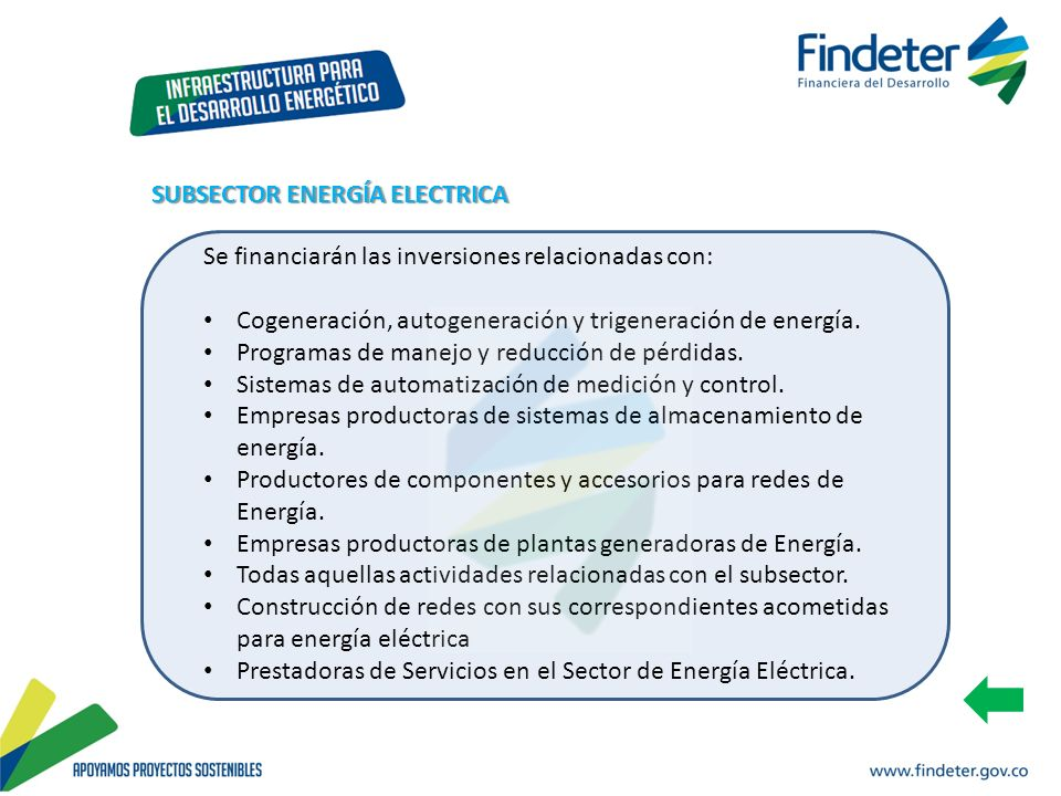 SUBSECTOR ENERGÍA ELECTRICA