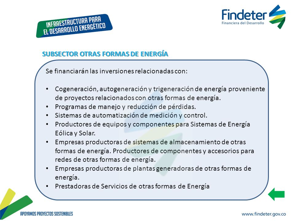 SUBSECTOR OTRAS FORMAS DE ENERGÍA