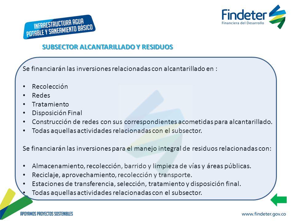 SUBSECTOR ALCANTARILLADO Y RESIDUOS