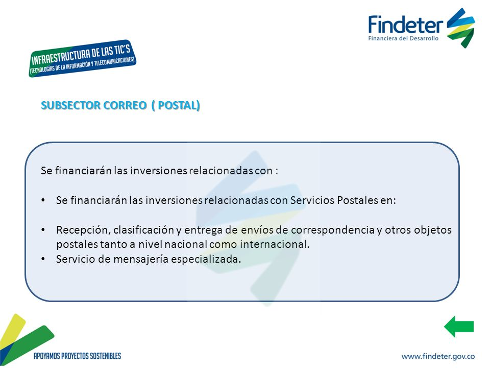 SUBSECTOR CORREO ( POSTAL)