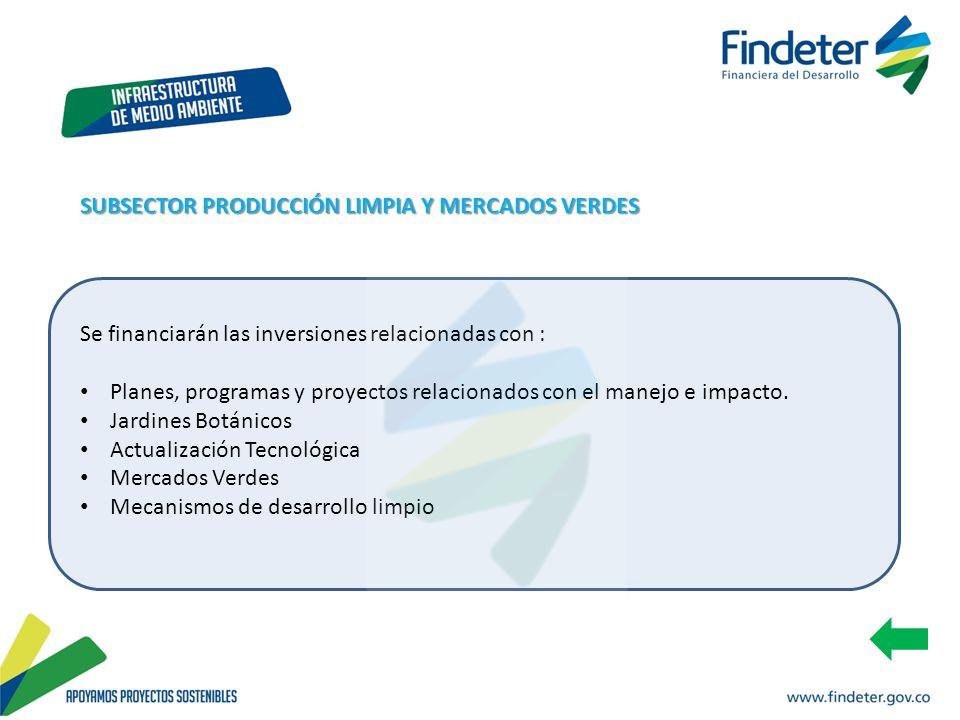 SUBSECTOR PRODUCCIÓN LIMPIA Y MERCADOS VERDES