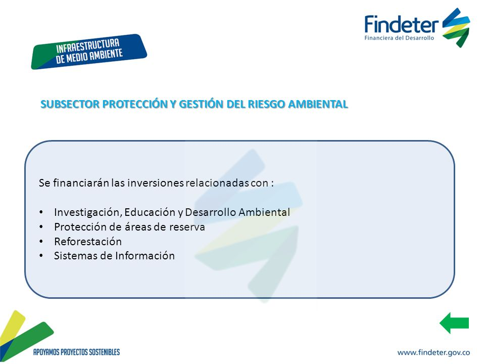 SUBSECTOR PROTECCIÓN Y GESTIÓN DEL RIESGO AMBIENTAL