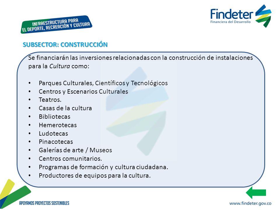 SUBSECTOR: CONSTRUCCIÓN