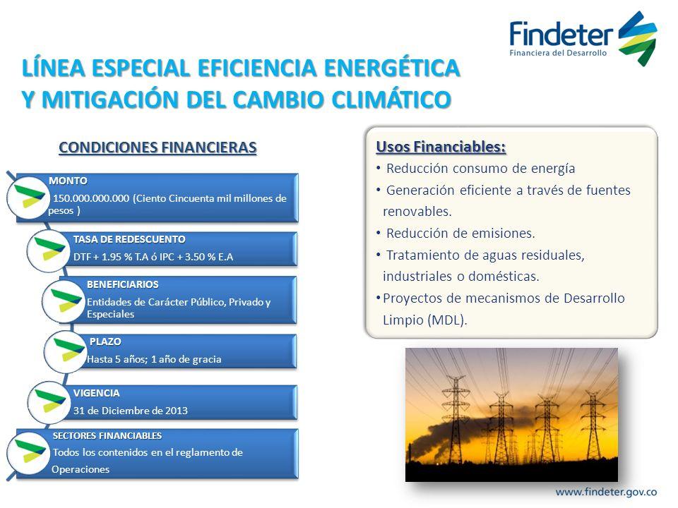 LÍNEA ESPECIAL EFICIENCIA ENERGÉTICA Y MITIGACIÓN DEL CAMBIO CLIMÁTICO