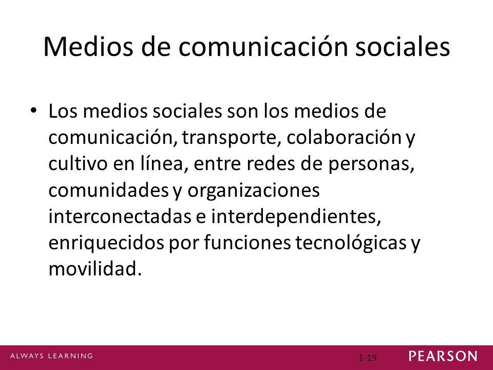 Medios de comunicación sociales