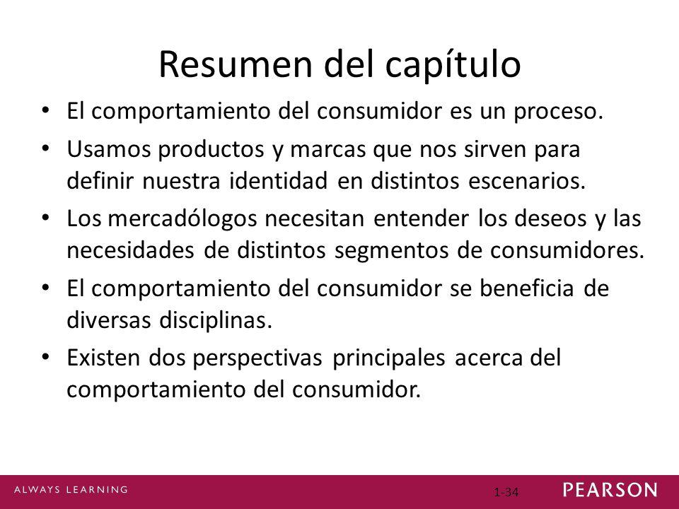 Resumen del capítulo El comportamiento del consumidor es un proceso.