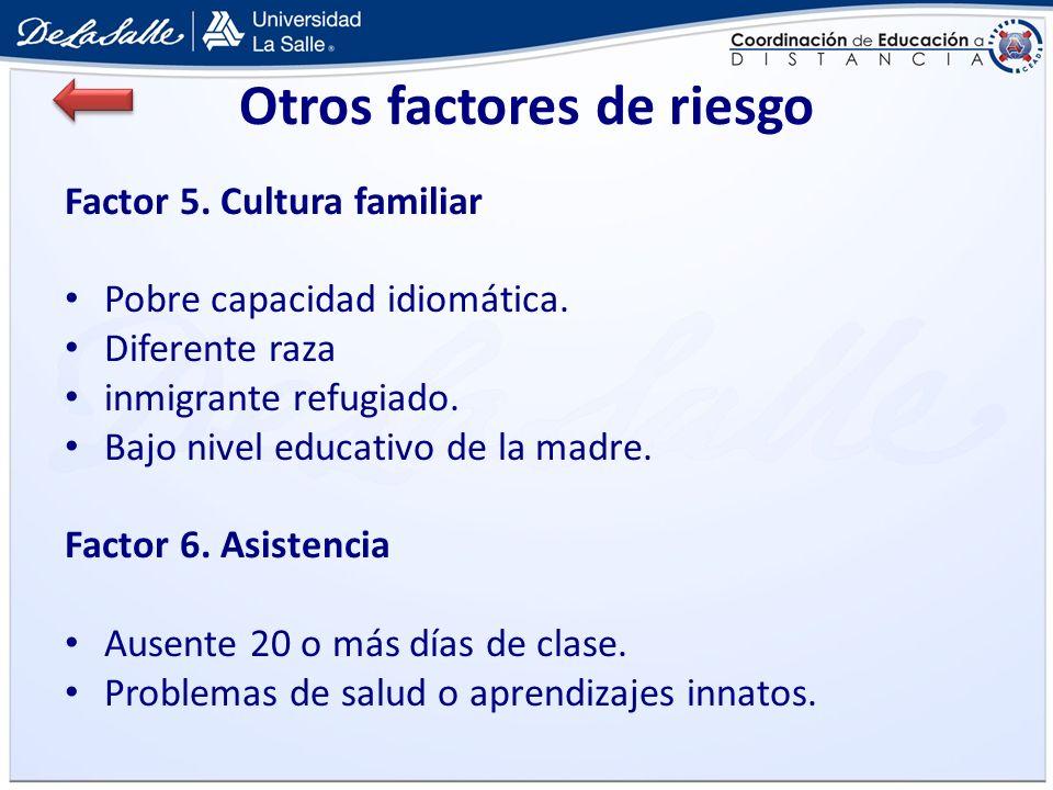 Otros factores de riesgo