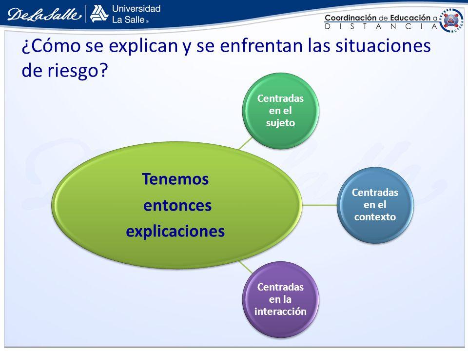 ¿Cómo se explican y se enfrentan las situaciones de riesgo