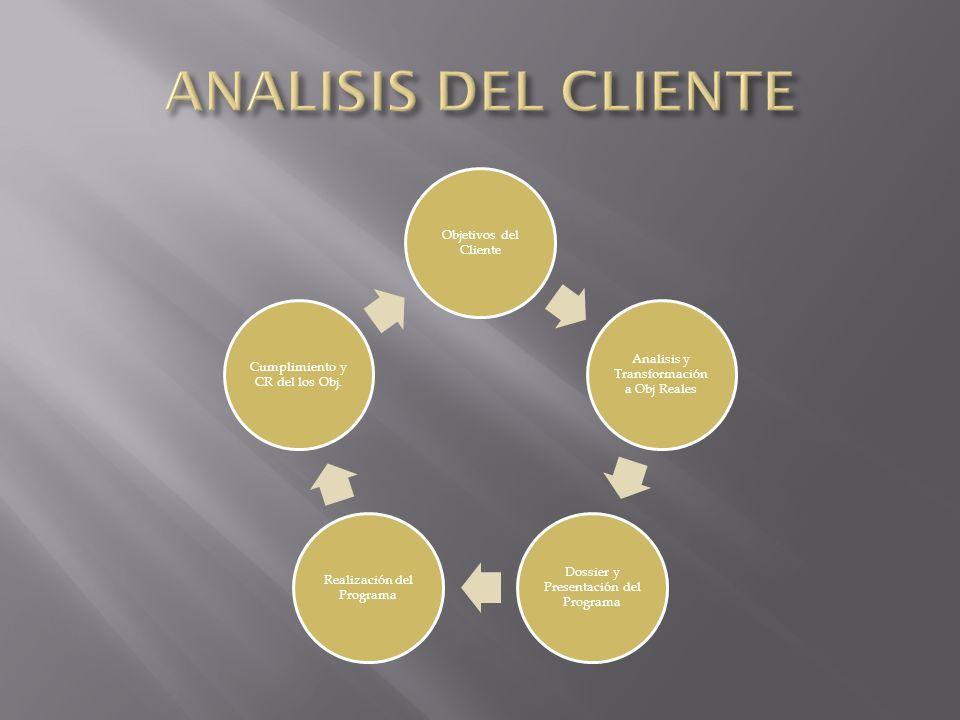 ANALISIS DEL CLIENTE Objetivos del Cliente