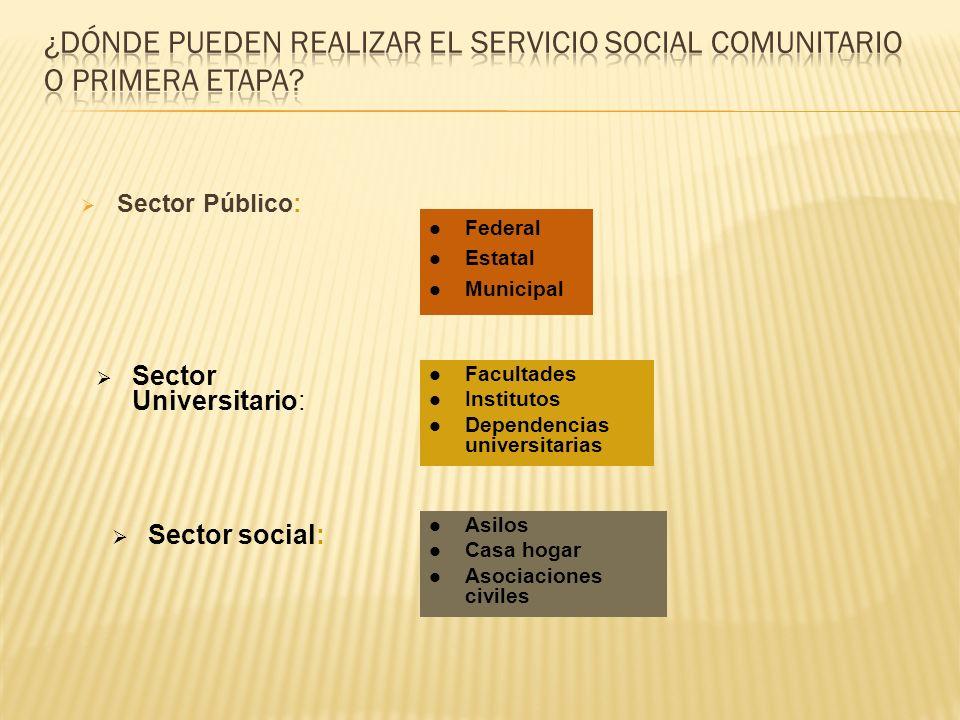 ¿Dónde pueden realizar el servicio social comunitario o primera etapa