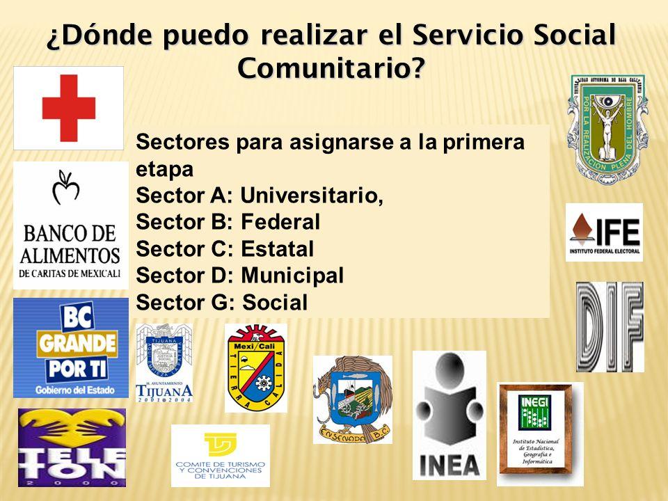 ¿Dónde puedo realizar el Servicio Social Comunitario