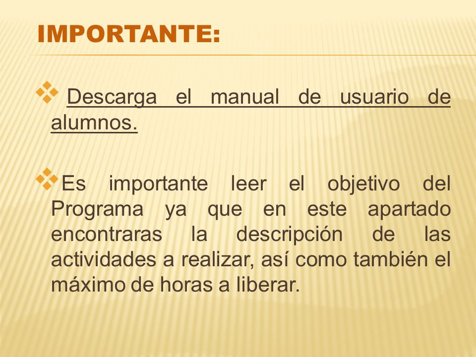 IMPORTANTE: Descarga el manual de usuario de alumnos.
