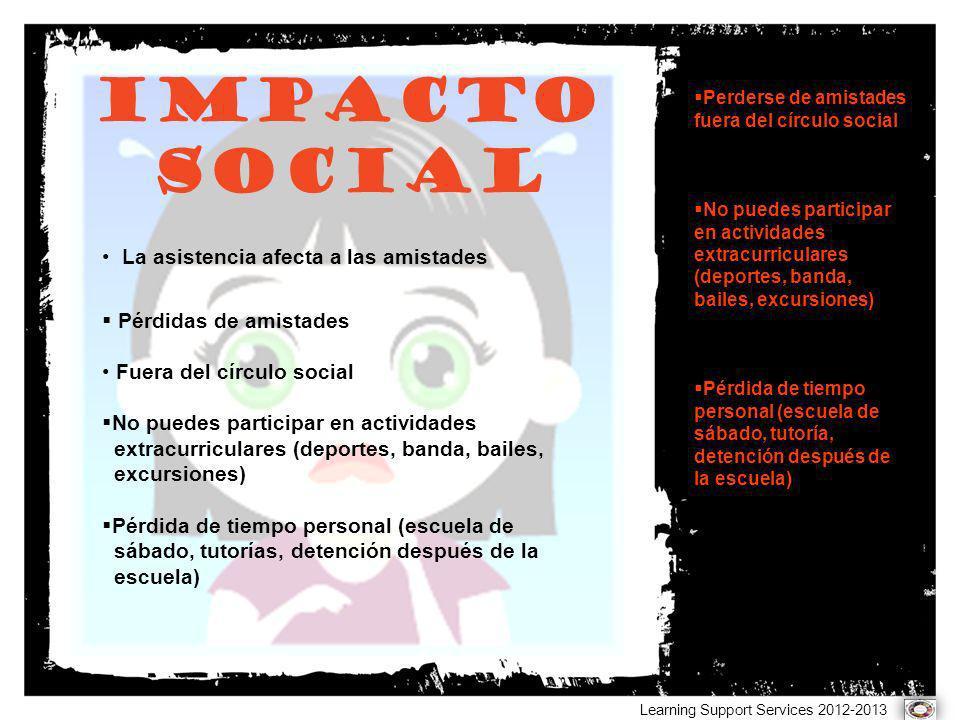 Impacto SOCIAL La asistencia afecta a las amistades