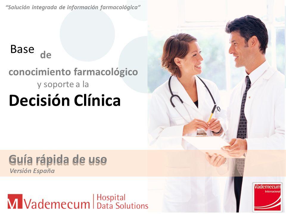 Solución integrada de información farmacológica