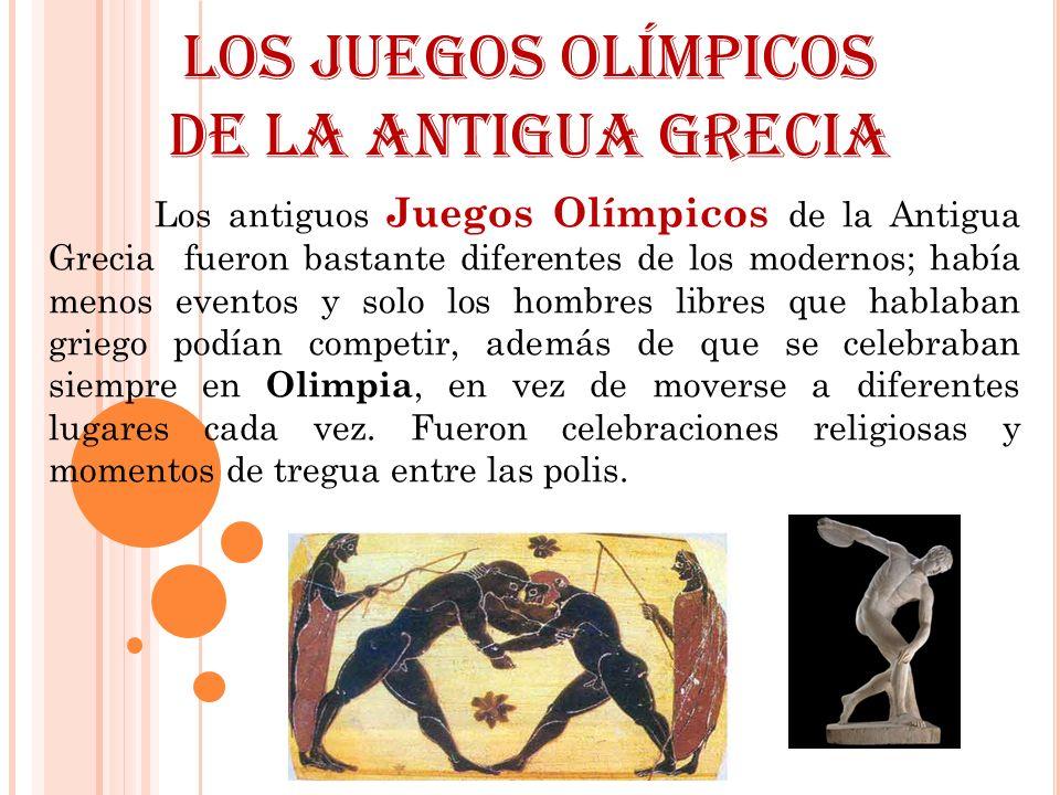 Los Juegos Olímpicos de la Antigua Grecia