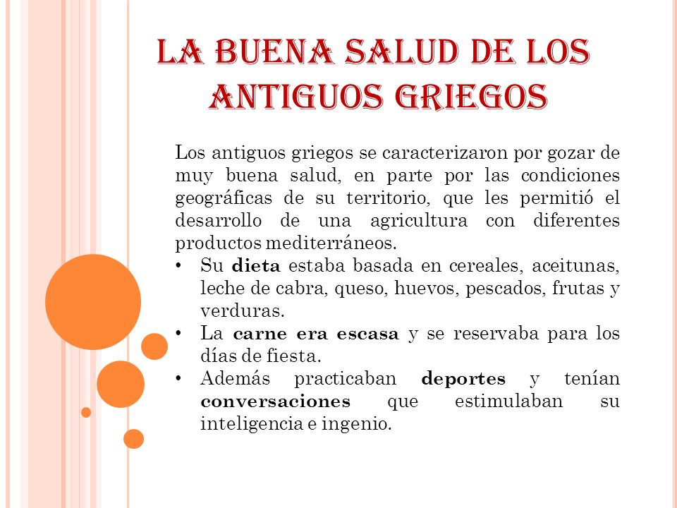 LA BUENA SALUD DE LOS ANTIGUOS GRIEGOS