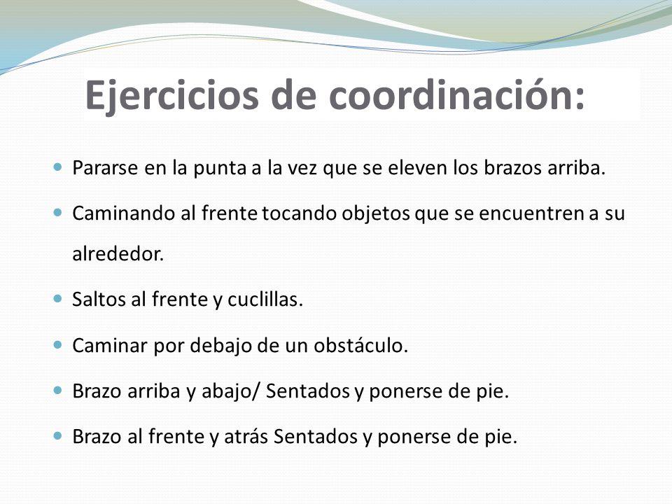 Ejercicios de coordinación: