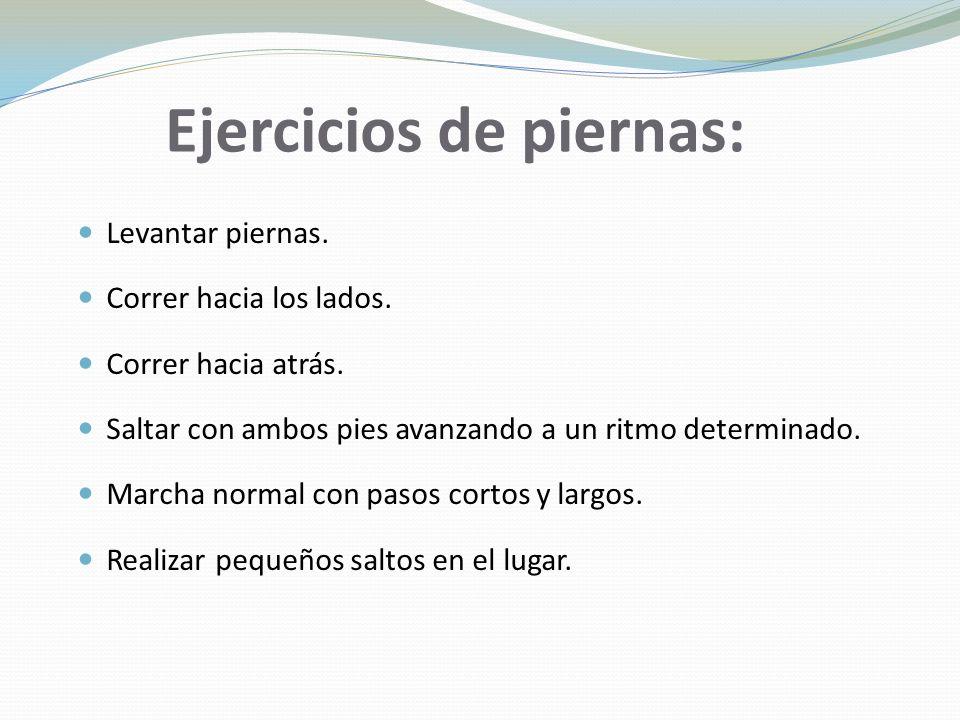 Ejercicios de piernas: