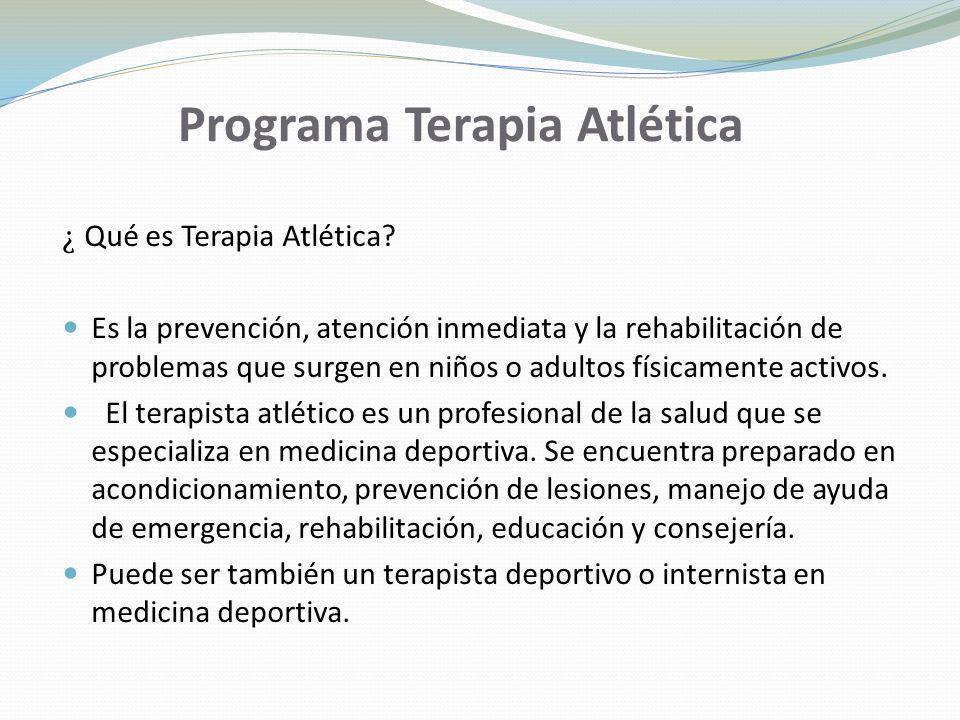 Programa Terapia Atlética