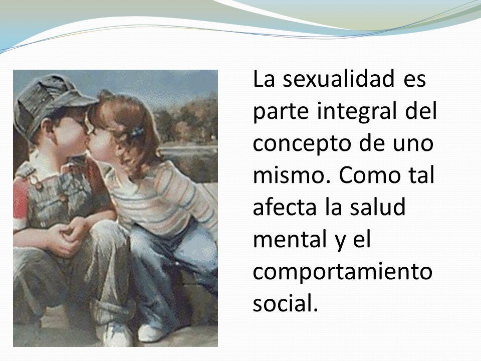 La sexualidad es parte integral del concepto de uno mismo